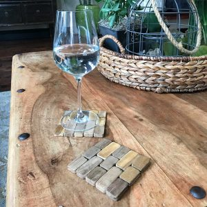 Teak Coasters (set of four) IPM002