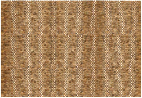 Teak Floor Rug, 5 ft by 8 ft