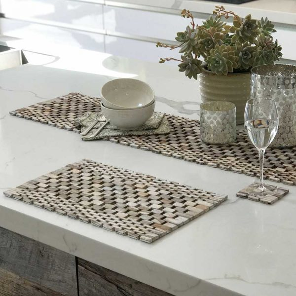 White Washed Rosewood Table Set IPM082