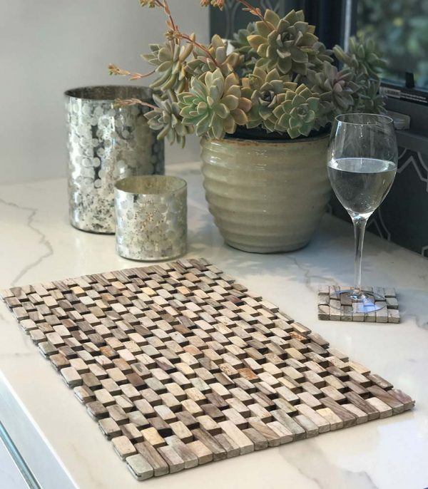 Whitewashed Rosewood Placemats-IPM001