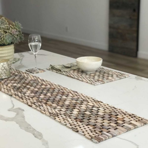 Whitewashed Rosewood Table Runner