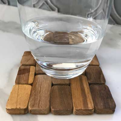 sustainable wood coasters