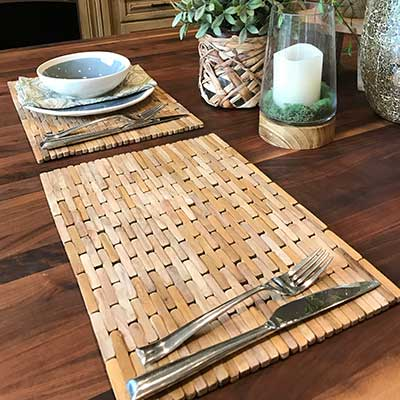 sustainable wood placemats