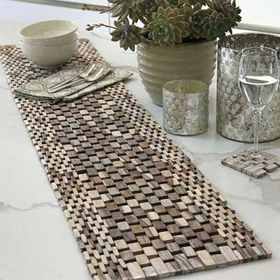 sustainable wood table runners